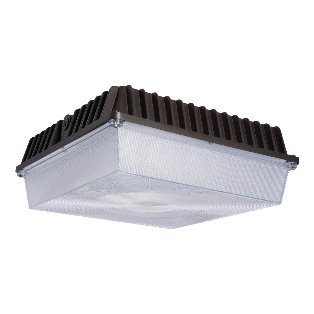 56-Watt Bronze Outdoor Integrated LED Area Canopy Light with 7,229 Lumens