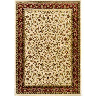Sapphire Sarouk Ivory 5 ft. x 8 ft. Area Rug