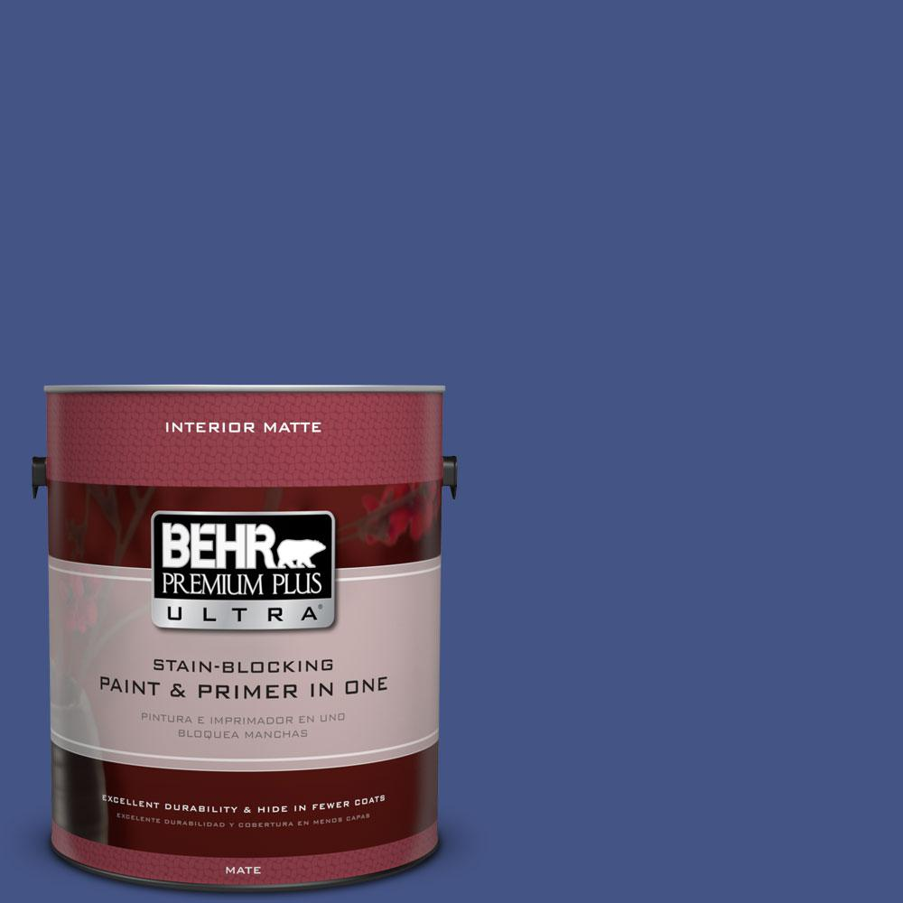 1 gal. #600B-7 Yacht Club Blue Flat/Matte Interior Paint