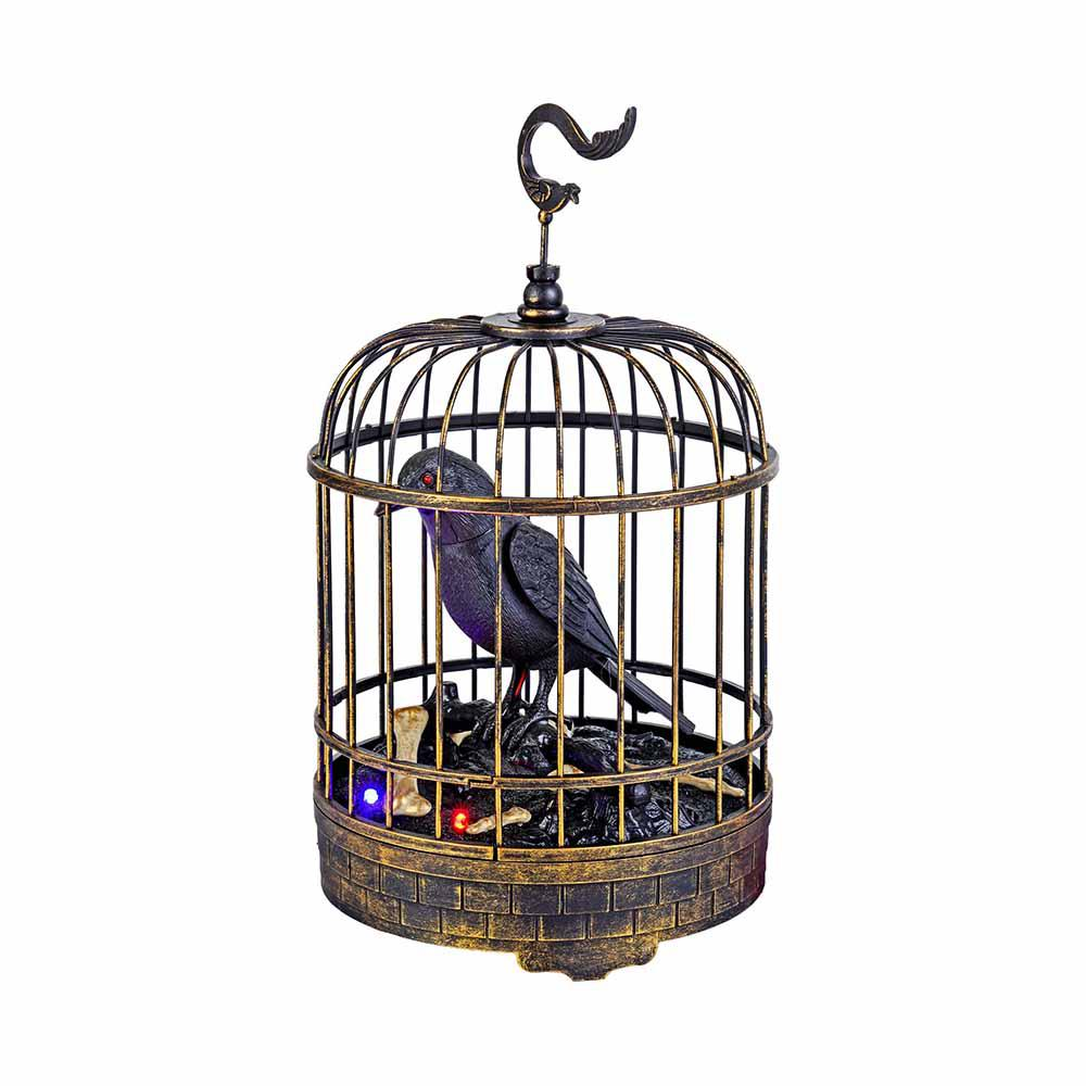 Home Accents Holiday Animated Talking Raven in Cage