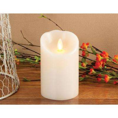 7 in. Pillar Ivory Indoor Vanilla Scented Candle