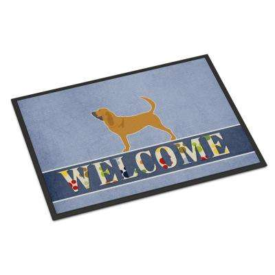 18 in. x 27 in. Indoor/Outdoor Bloodhound Welcome Door Mat