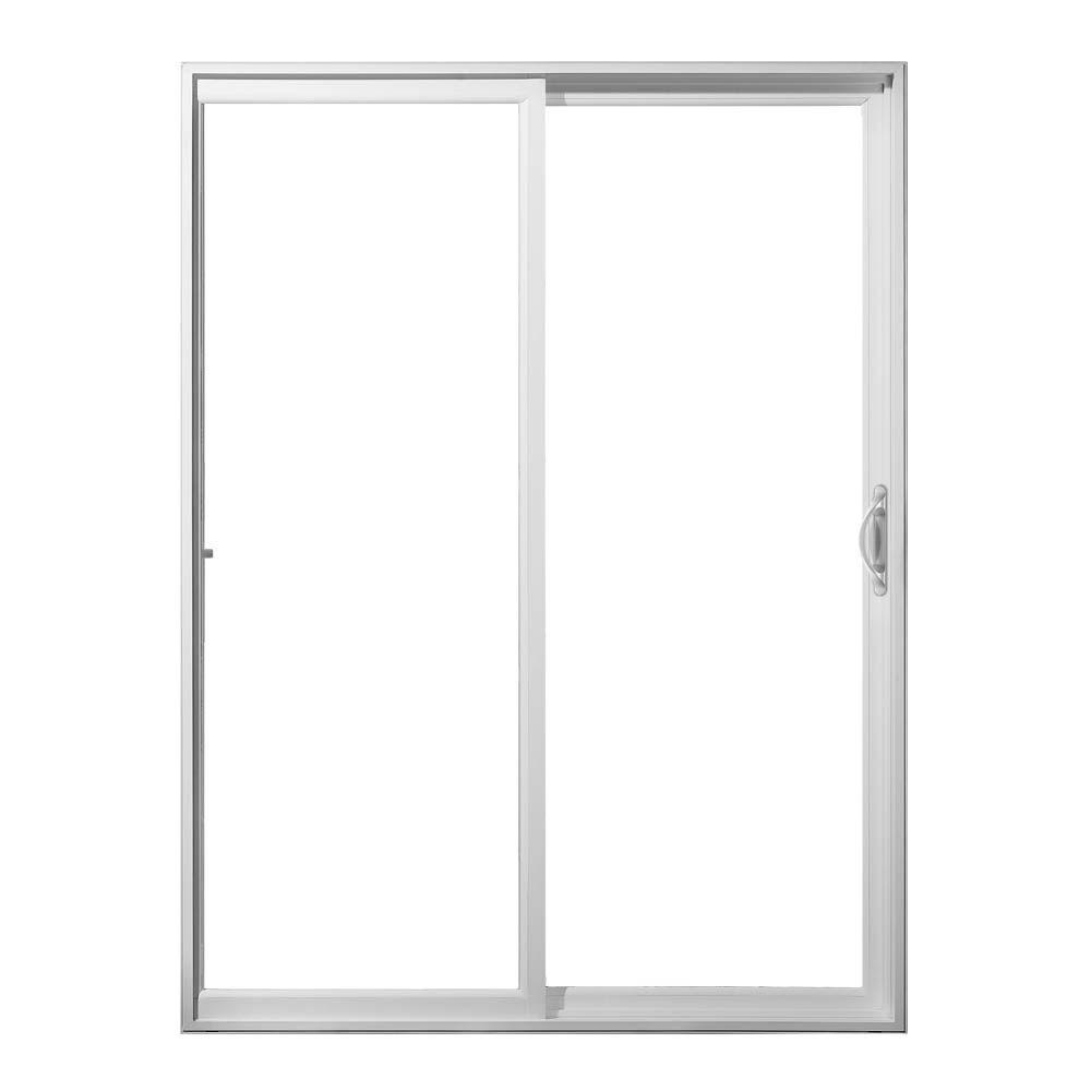 JELD-WEN 60 in. x 80 in. V-2500 White Vinyl Left-Hand Full Lite ...