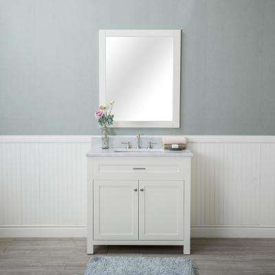 D Vanity In Linen White With Marble