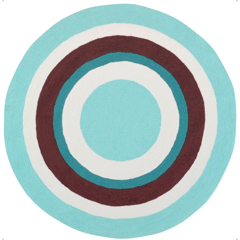 Artistic Weavers Jose Light Blue 8 ft. Round Area Rug-DISCONTINUED