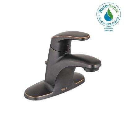 Colony Pro 4 in. Centerset Single-Handle Low-Arc Bathroom Faucet with Pop-Up Drain in Legacy Bronze