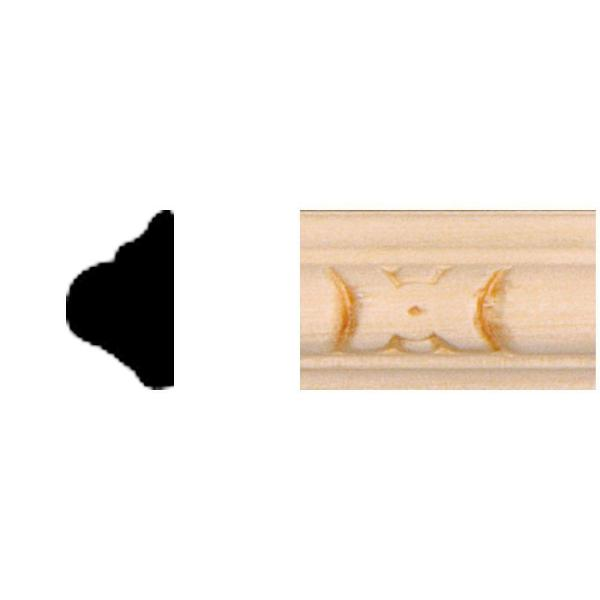 3/8 in. x 5/8 in. x 8 ft. Basswood Embossed Panel Moulding