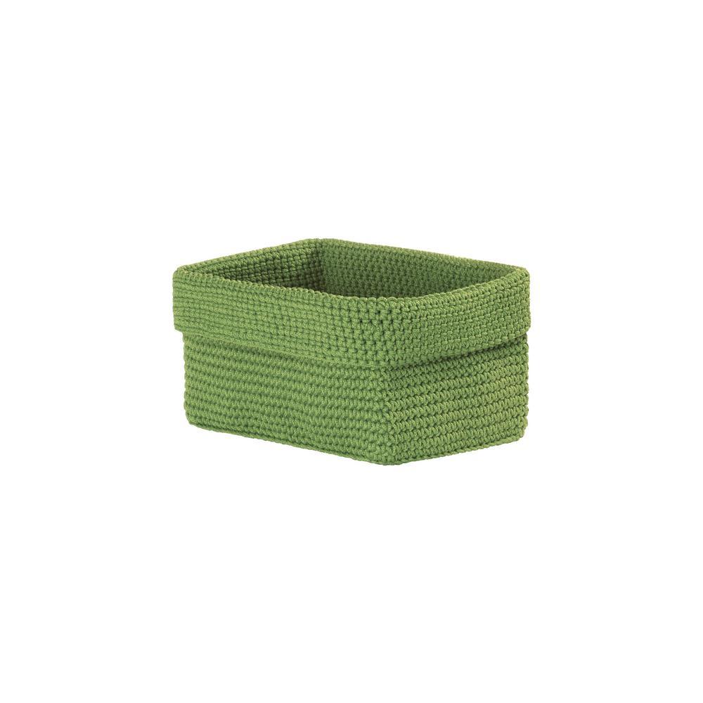 Mod Crochet Rectangular Polypropylene Basket