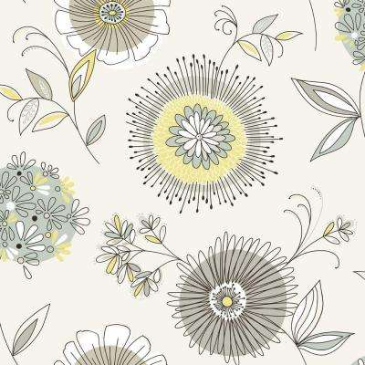 Maisie Green Floral Burst Wallpaper Sample