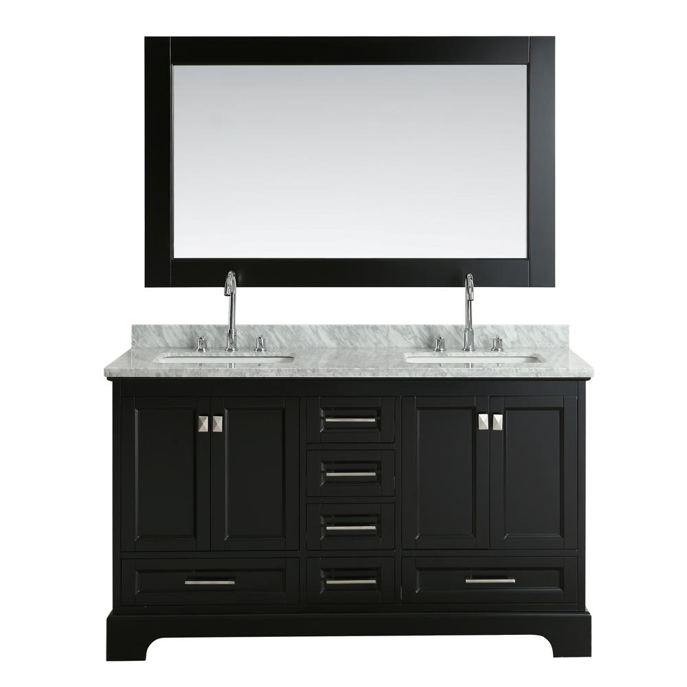 Design Element Omega 61 In. W X 22 In. D Vanity In Espresso With