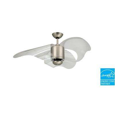 Troposair stainless steel ceiling fans lighting the home depot satin steel indooroutdoor ceiling fan aloadofball Image collections