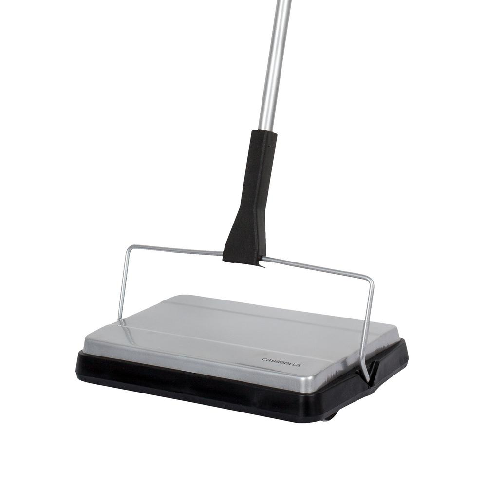 carpet sweeper. casabella compact carpet sweeper cordless - no batteries required-28036 the home depot r