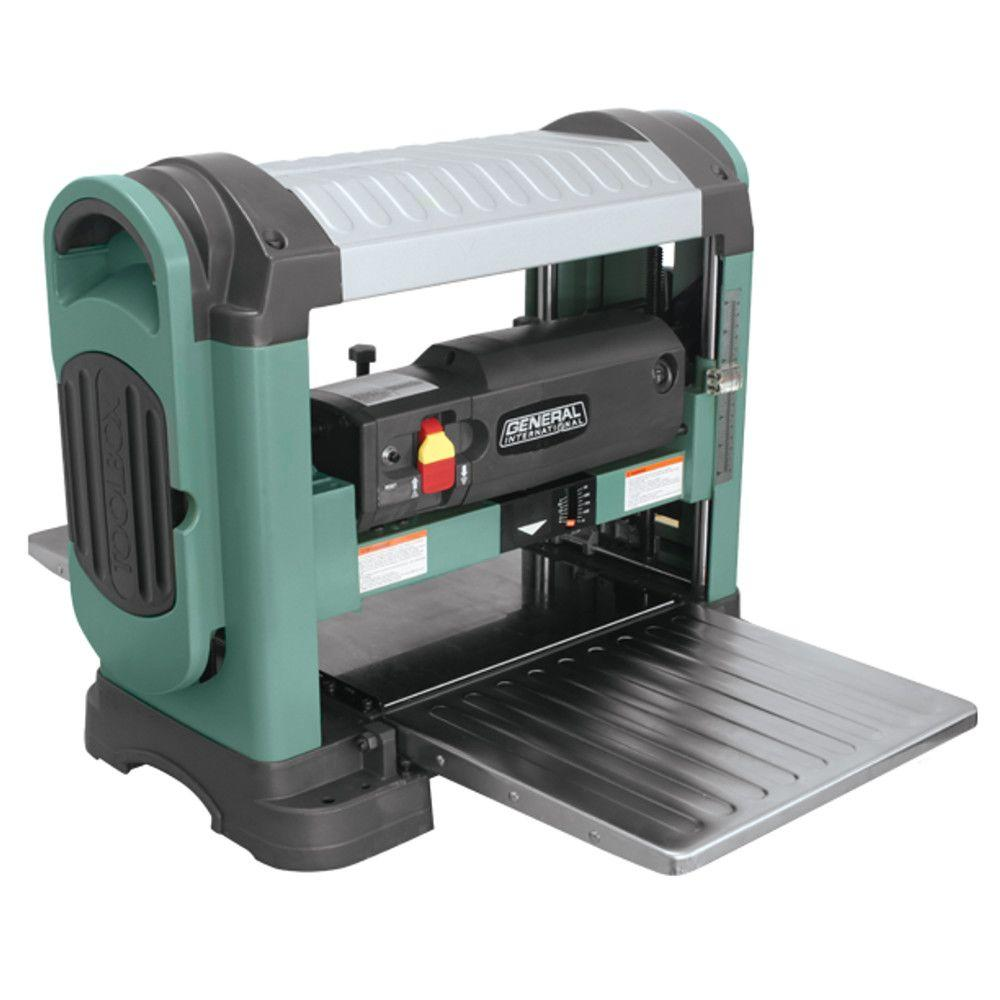 General International 13 in. Heavy Duty Corded Bench Top Planer with Helical Cutter Head