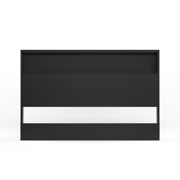 South Shore Holland Full/Queen-Size Headboard in Pure Black 3370261