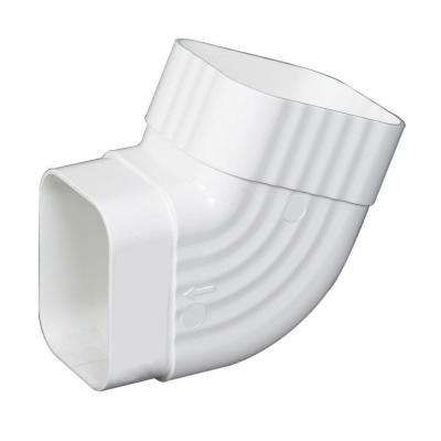 3 in. x 4 in. White Vinyl B-Elbow