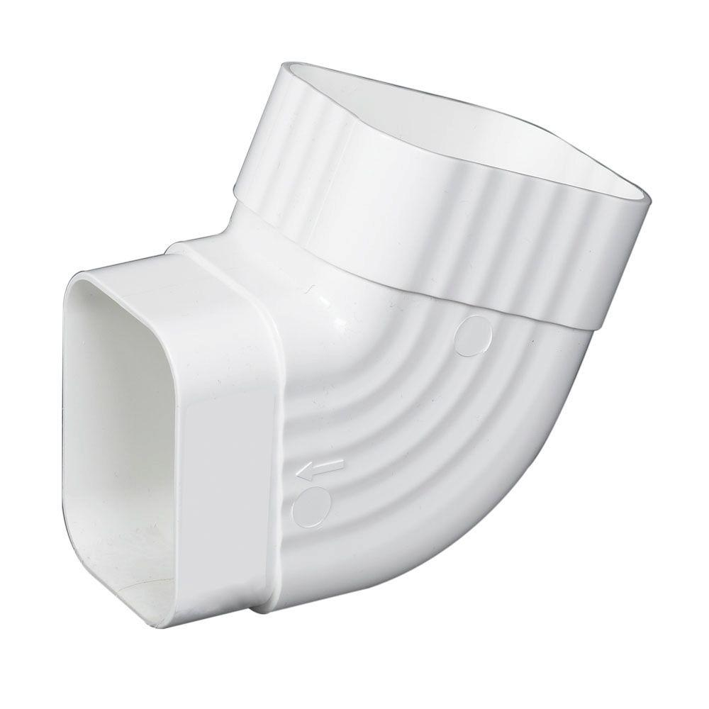 Amerimax Home Products 3 In X 4 In White Vinyl B Elbow