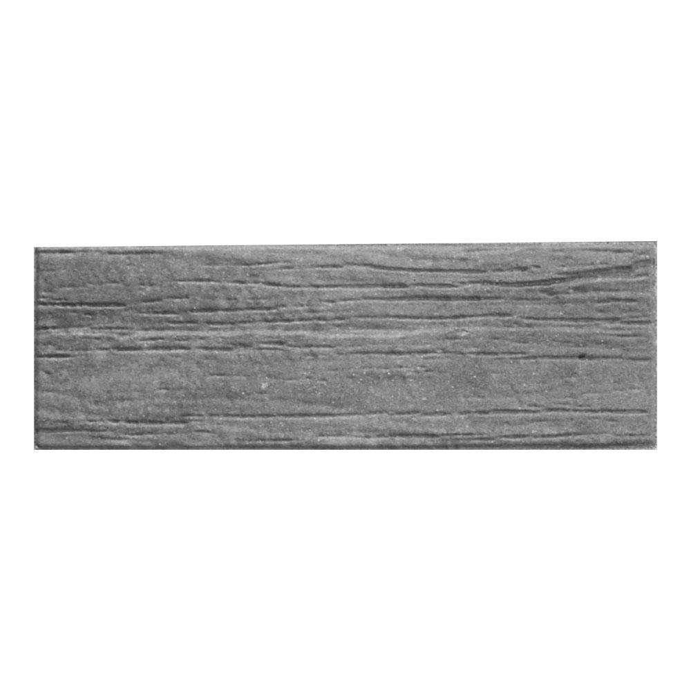 Basalite Wood Plank 6 in. x 18 in. Aspen Gray Concrete Paver ...