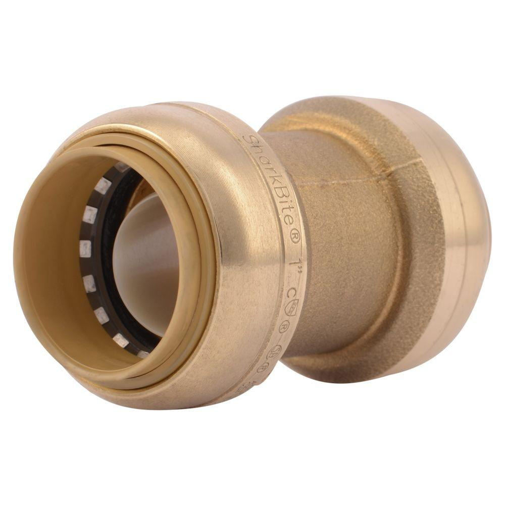 1 in. Brass Push-To-Connect Coupling