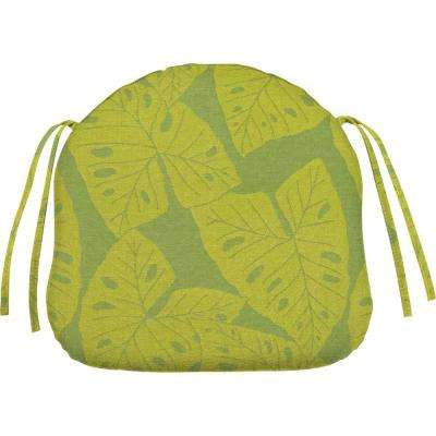 sunbrella radiant kiwi contoured outdoor seat cushion