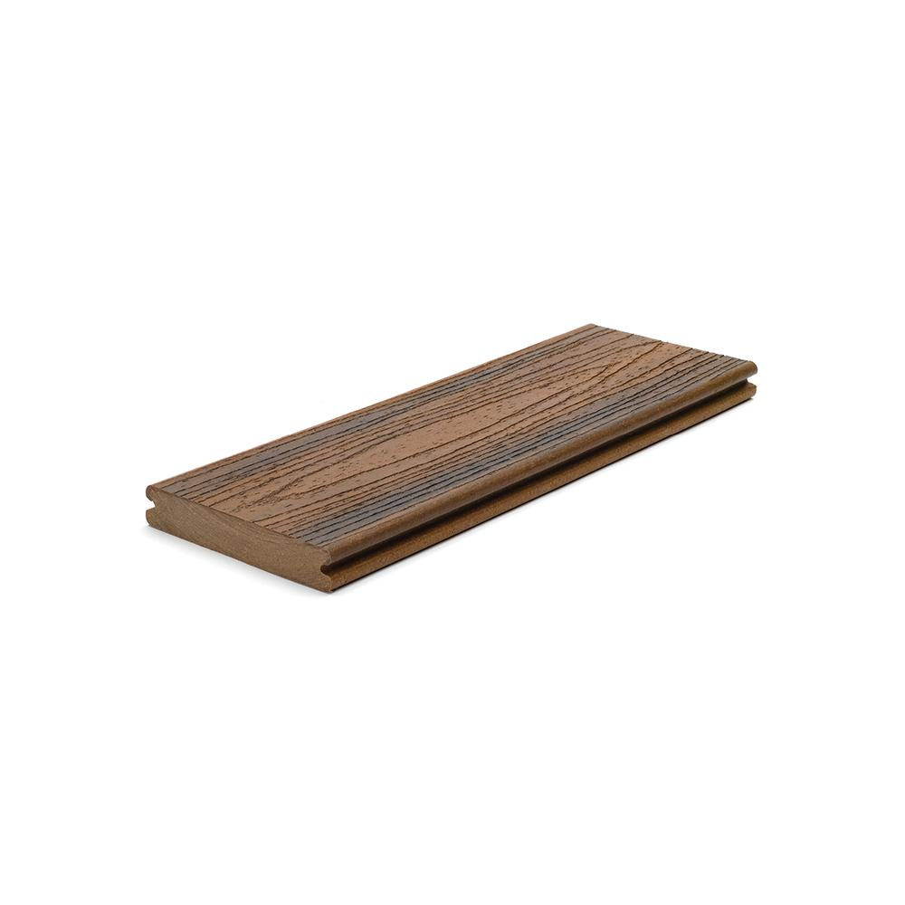 Transcend 1 in. x 5.5 in. x 1 ft. Spiced Rum Composite Decking Board Sample