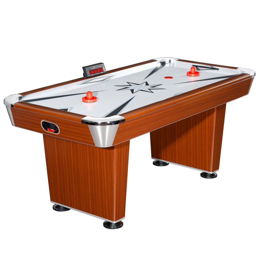 Merveilleux Air Hockey Family Game Table W/ Electronic Scoring, High