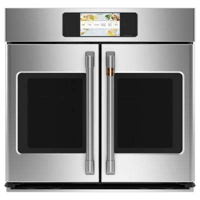 30 in. Smart Single Electric French-Door Wall Oven with Convection Self-Cleaning in Stainless Steel