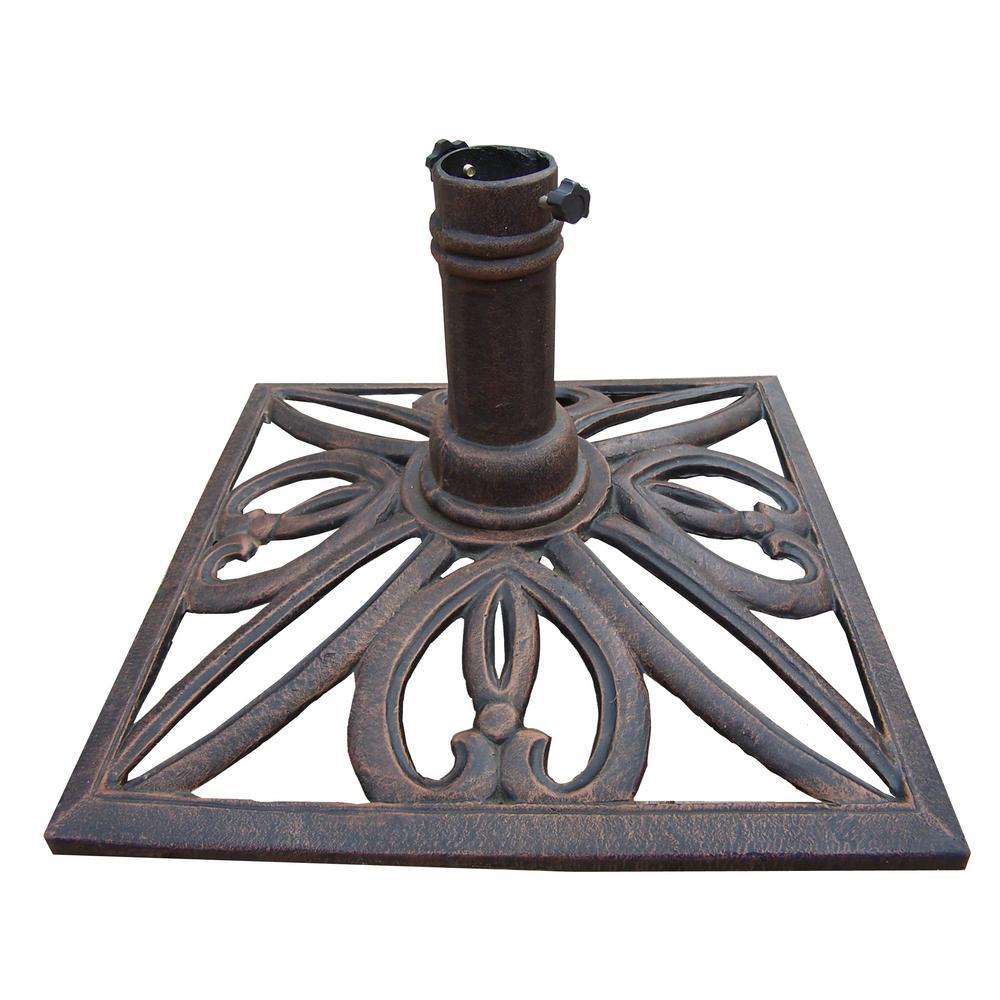 Square Patio Umbrella Base In Antique Bronze-HD4102-AB