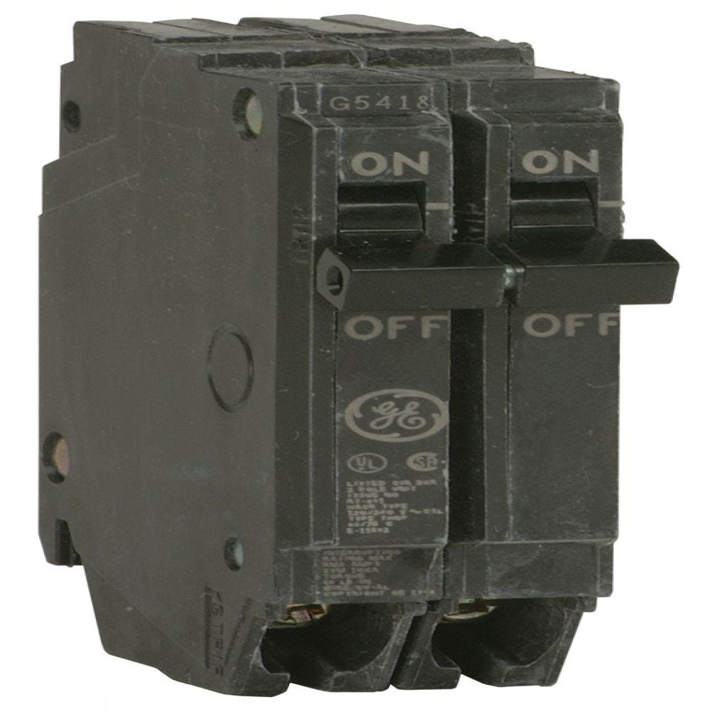 GE Q-Line 40 Amp 1 in. Double Pole Circuit Breaker-THQP240 - The ...