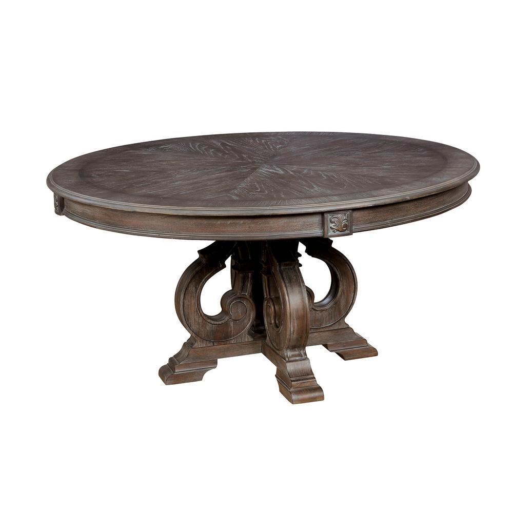 William S Home Furnishing Arcadia Natural Tone Rustic Style Round