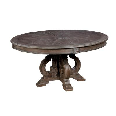 Arcadia Natural Tone Rustic Style Round Dining Table