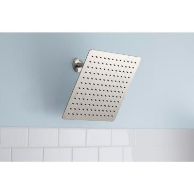 Modern 1-Spray 12 in. Single Ceiling Mount  Fixed Shower Head in Brushed Nickel