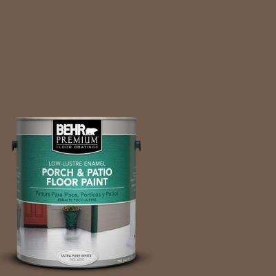 1 gal. #PFC35 Rich Brown Low-Lustre Interior/Exterior Porch and Patio Floor Paint