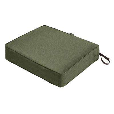 Montlake 23 in. W x 21 in. D x 5 in. Thick Heather Fern Green Rectangular Outdoor Seat Cushion