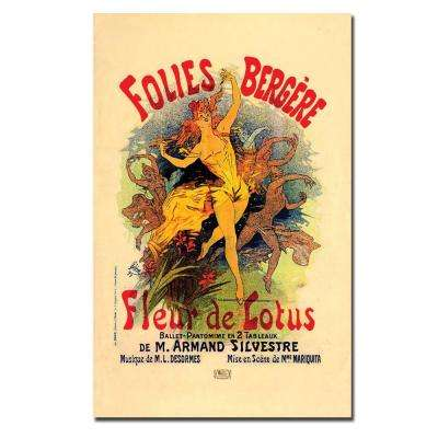 24 in. x 32 in. Folies Bergere Fleur de Lotus by Jules Cheret Canvas Art