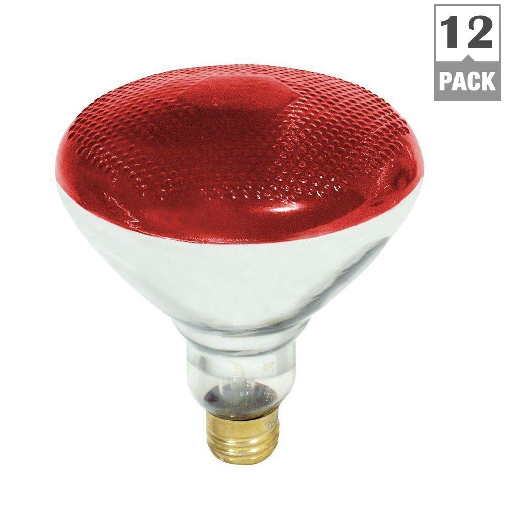feit electric 100 watt red colored par38 dimmable incandescent light bulb 12 pack 100par r 1. Black Bedroom Furniture Sets. Home Design Ideas