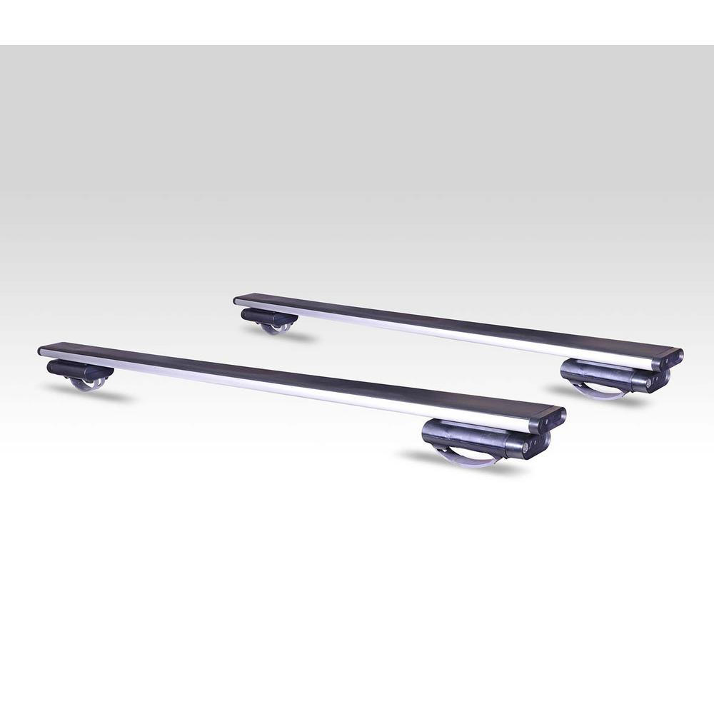 165 lbs. Capacity 53 in. Locking Aluminum Roof Bars for Vehicles