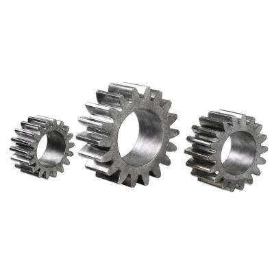 Decorative Industrial Gear Sculptures in Tarnished Silver (Set of 3)