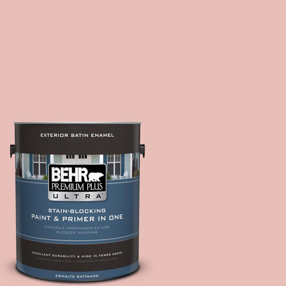 BEHR Premium Plus Ultra 1 gal. #T18-01 Positively Pink Satin Enamel ...