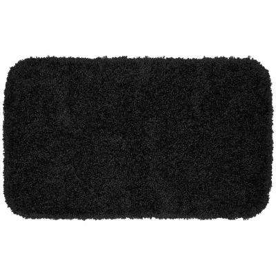 Serendipity Black 24 in. x 40 in. Washable Bathroom Accent Rug
