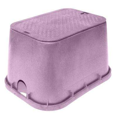 Pro Series 13 in. x 20 in. Jumbo Valve Box and Cover - Reclaimed Water