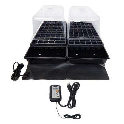 Dual Propagation Kit with Heat Mat, Flat Tray, Flat Insert, Tall Dome, Tray Heat Mat with Thermostat