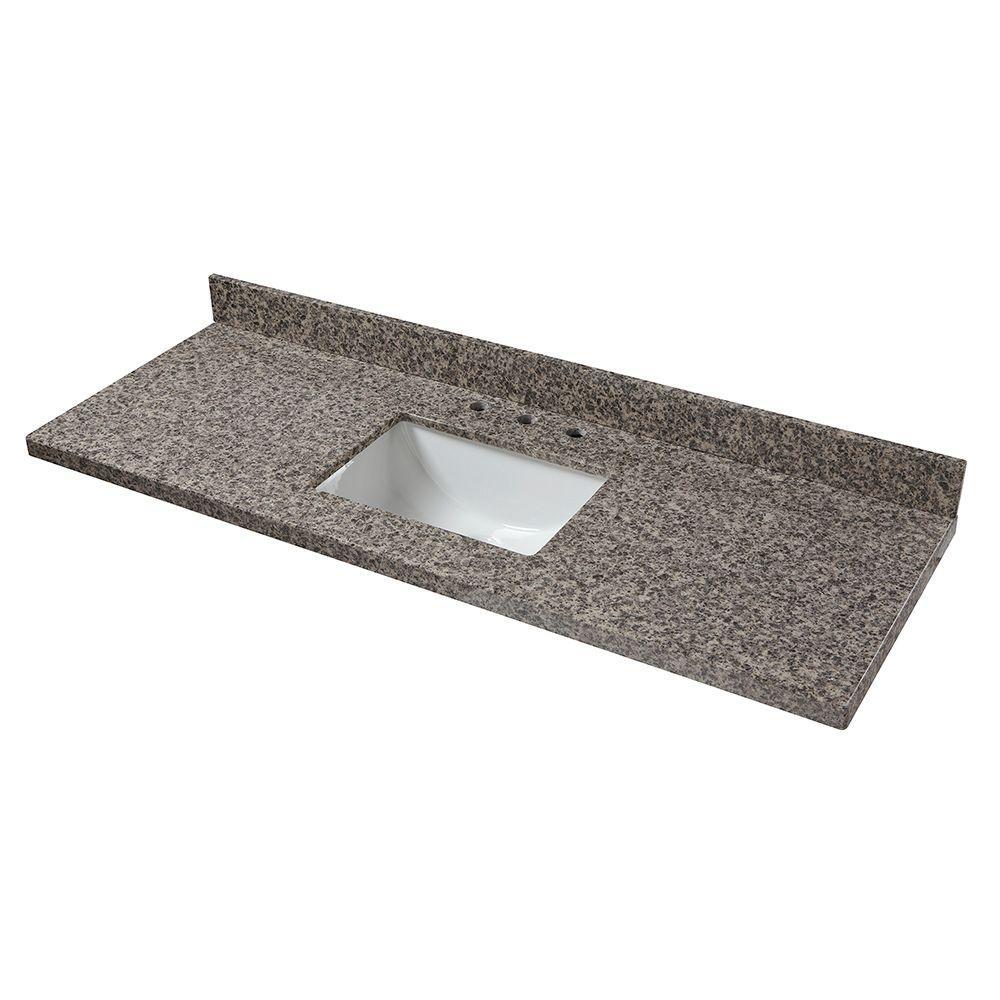 61 in. W Granite Single Sink Vanity Top in Sircolo