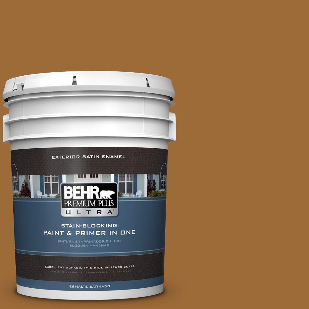 BEHR Premium Plus Ultra 5-gal. #PPU6-1 Curry Powder Satin...