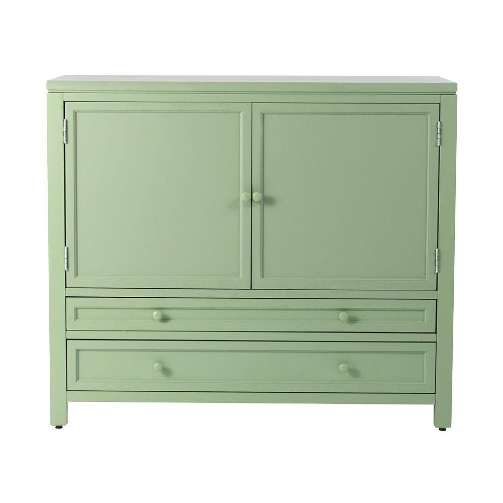 Great Martha Stewart Living 42 In. Wood Craft Space Storage Cabinet In  Rhododendron Leaf