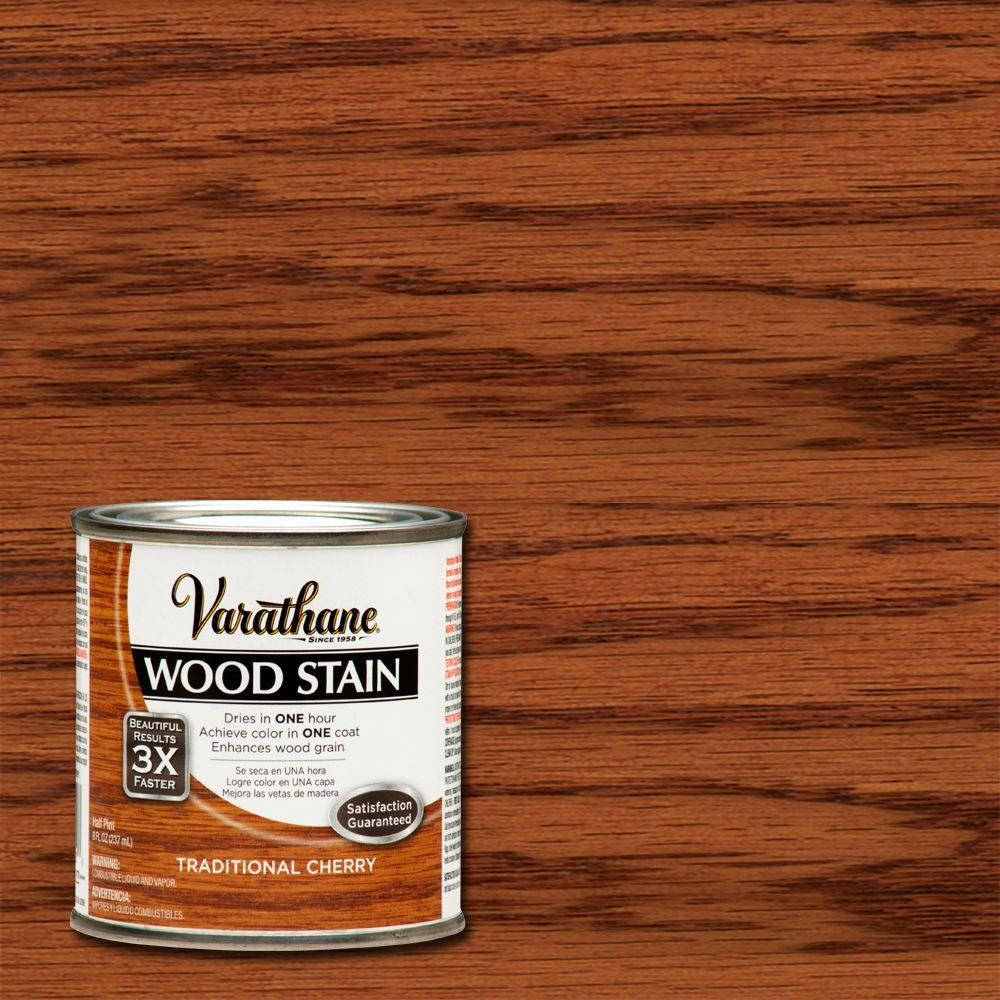 Varathane 1 2 Pt Traditional Cherry Wood Stain 266202 The Home Depot