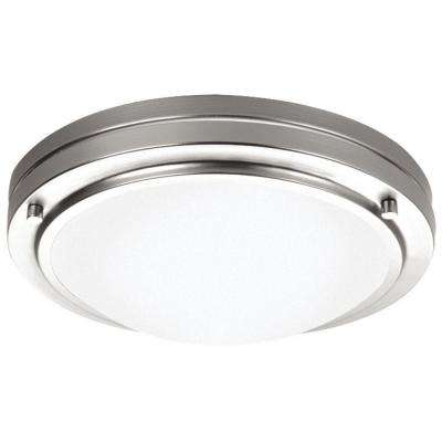 West End 1-Light Satin Nickel Ceiling Fixture