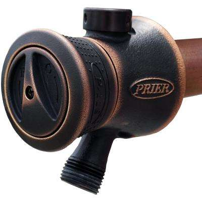 12 in. Single Handle Hot and Cold Mixing Hydrant Valve in Oil Rubbed Bronze 1/2 in. Plain Copper Ends