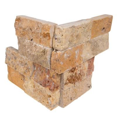 Picasso Ledger Corner 6 in. x 6 in. x 6 in. Natural Travertine Wall Tile (2.5 sq. ft./Case)