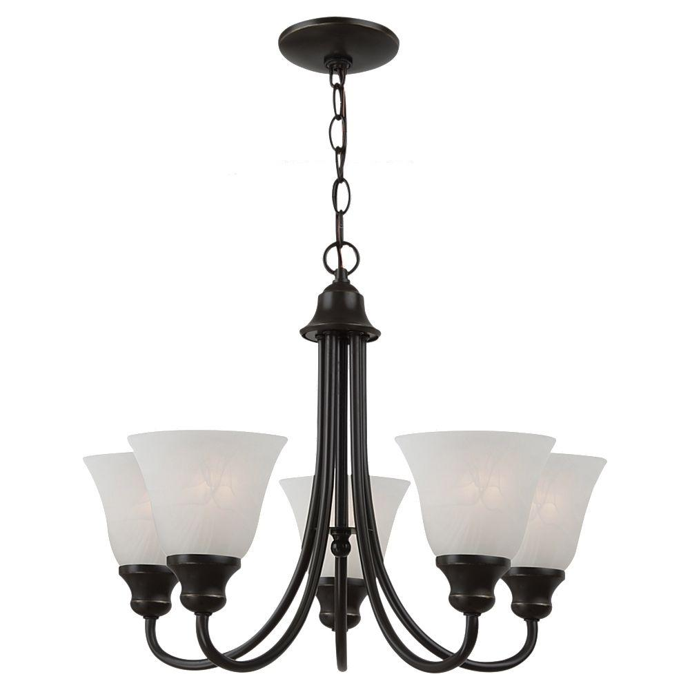 Sea Gull Lighting Windgate 5-Light Heirloom Bronze Single-Tier Chandelier