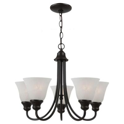 Windgate 5-Light Heirloom Bronze Single-Tier Chandelier
